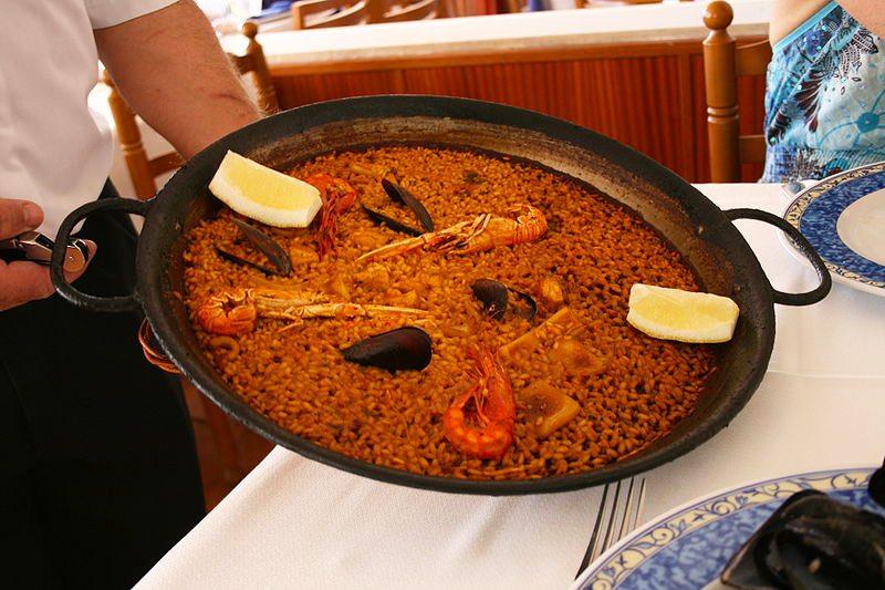 Die Spezialität des Hauses - la paella ()