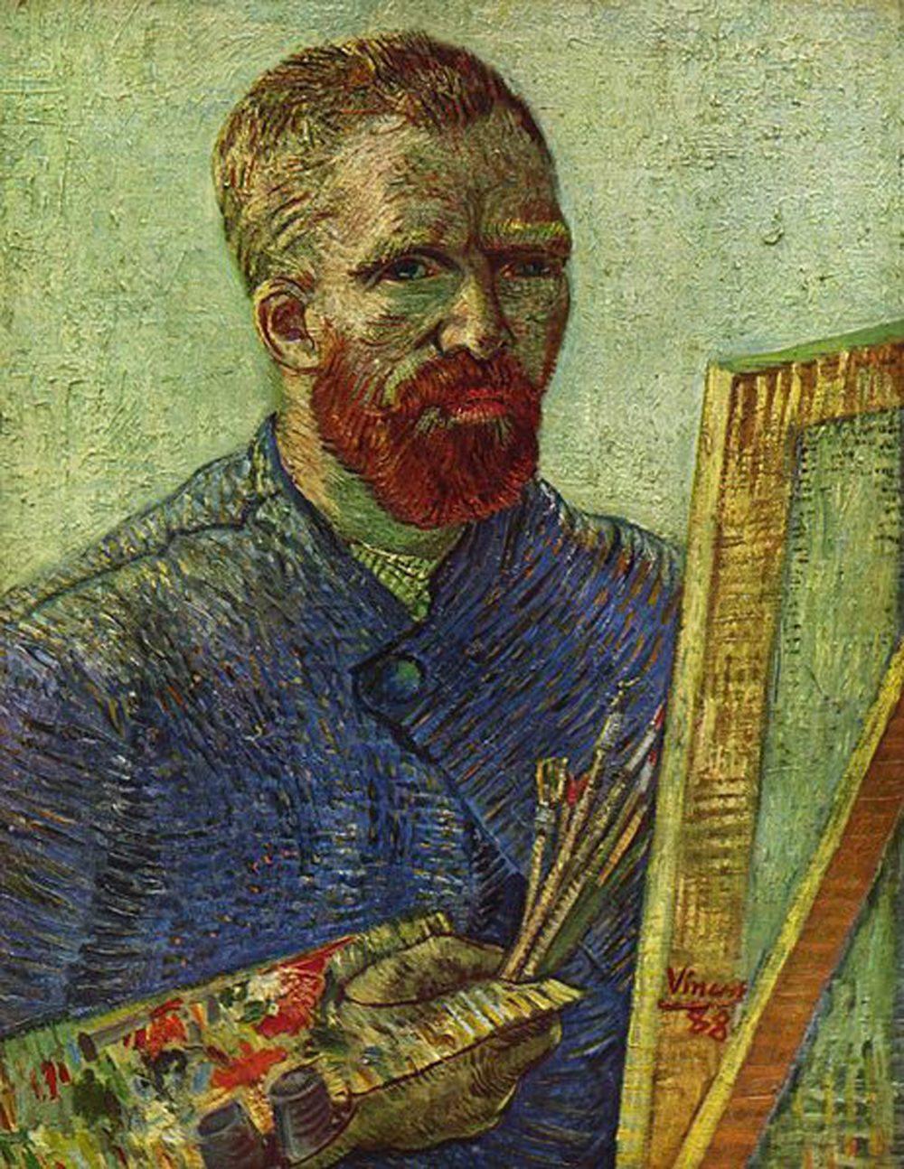 Van Gogh, Selbstporträt vor Staffelei