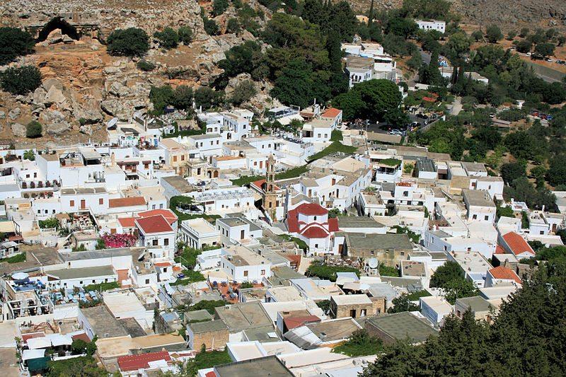 Die Altstadt von Lindos (Bild: Olbertz, Wikimedia, GNU)