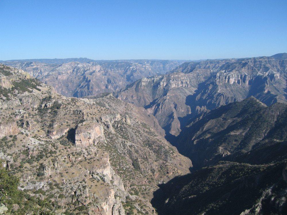 Blick auf die Barranca Del Cobre / Kupferschlucht. (Quelle: Wiki)