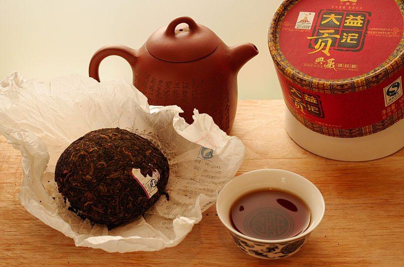 Pu-Erh Tee aus der Provinz_Menghai (Bild: Copypaiste, Wikimedia, CC)