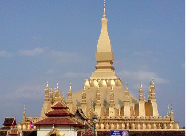 Pha That Luang, das Nationalsymbol von Laos. (Urheber: Frank Schneidewind)