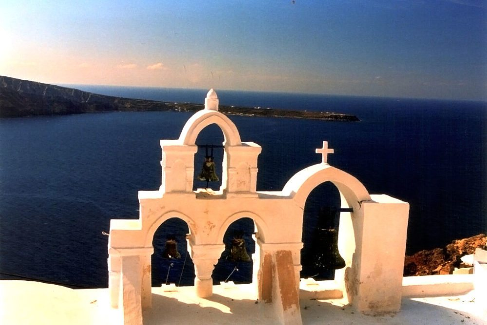"""Orthodoxe Kapelle in Oia, Santorin. (Urheber: Kaikanne / Wiki / Lizenz: <a href=""""http://creativecommons.org/licenses/by-sa/3.0/deed.de"""" target=""""_blank"""">CC</a>)"""