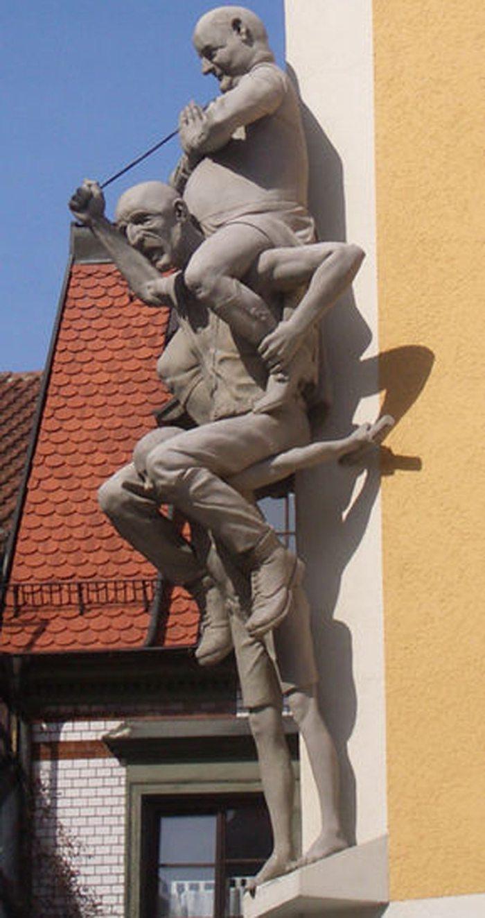 Peter Lenk: Revensburger Kindermarkt (Bild: Andreas Praefke, Wikimedia, CC)