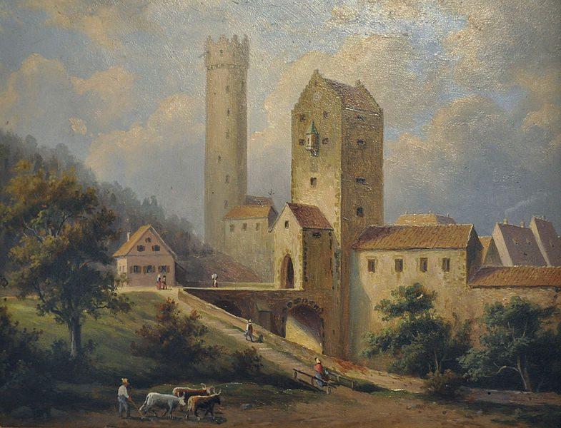 Obertor und Mehlsack, Öl auf Holz, etwa 1860 (Bild: Wikimedia)