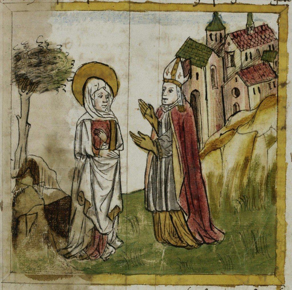 Alte Handschriften wie diese von 1460 beherbergt die Stiftsbibliothek St. Gallen. (Bild: Anonym / Public Domain)