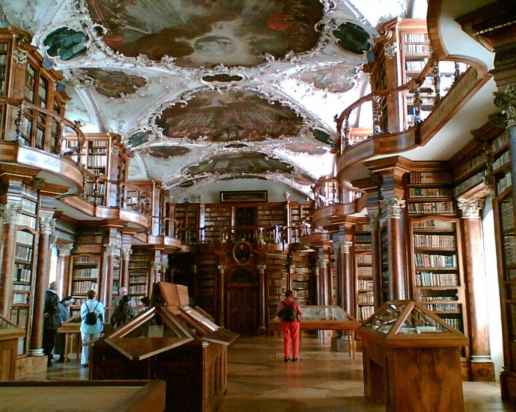 So sieht es in der Stiftsbibliothek aus. (Bild: chippee / Wikimedia / CC)