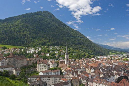 Chur Blick auf die Altstadt (Bild: © Eder - shutterstock.com)