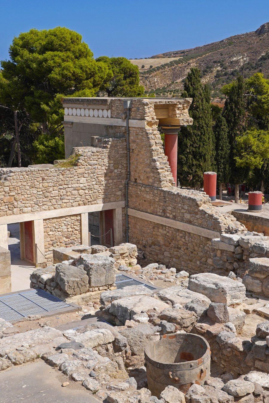 """Knossos, bei Heraklion, Kreta. (Urheber: Guenter Hamich / <a href=""""http://pixelio.de"""" target=""""_blank"""">pixelio.de</a>)"""