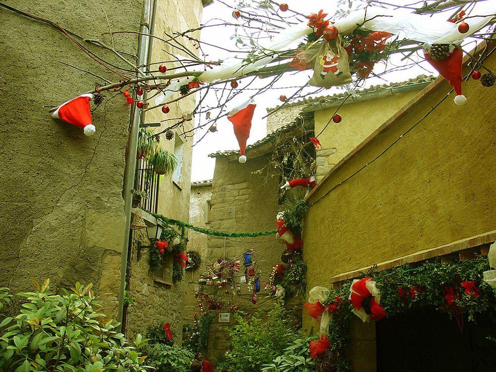 Weihnachtsdekoration in Lleida, Katalonien (Bild: Pedroserafin, Wikimedia)