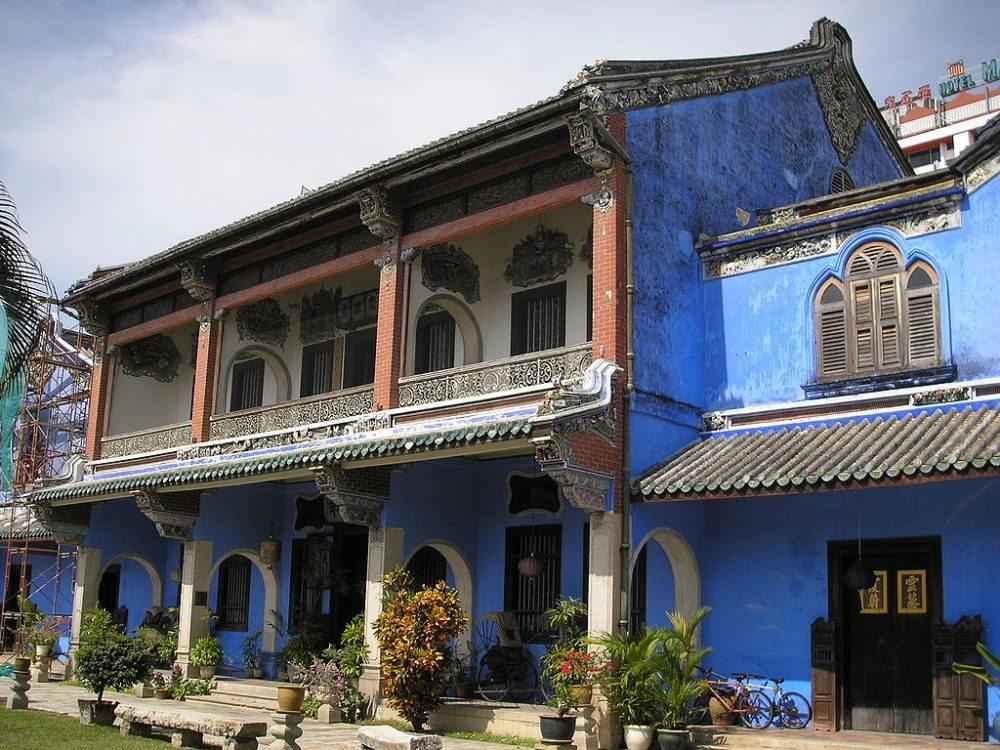 """Die berühmte """"Blue Mansion"""", früher Eigentum eines chinesischen Händlers, heute Museum und Hotel (Bild: Gryffindor, Wikimedia, CC)"""