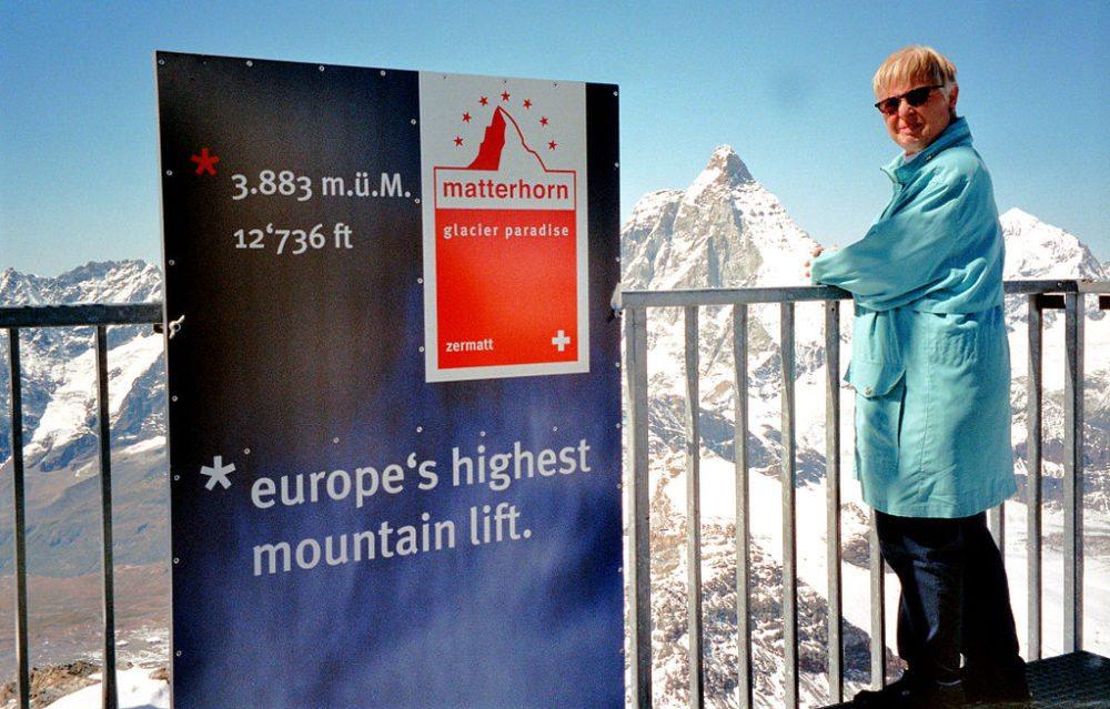 Matterhorn Glacier Paradise, Zermatt (Bild: Dieter Wirz, Wikipedia, CC)