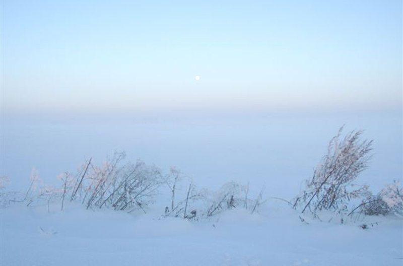 """Schnee so weit das Auge reicht (Bild: ©Landhaus-Pension """"Krutynska Chata"""")"""