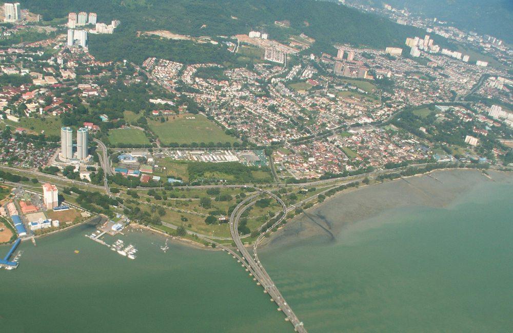 Penang-Brücke aus der Luft (Bild: Frank Schneidewind)