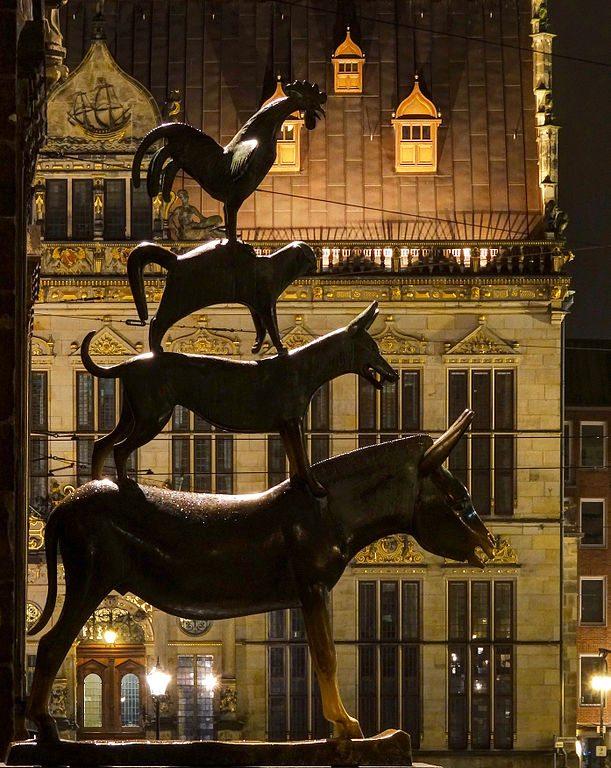 Die Bremer Stadtmusikanten von Gerhard Marcks (Bild: Jürgen Howaldt / Wikimedia / CC)