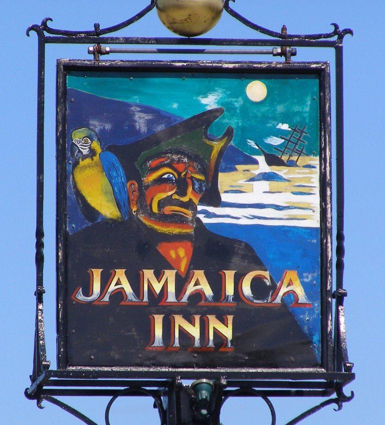 Schild vom Jamaica Inn Pub (Bild: Milborne One, Wikimedia, CC)