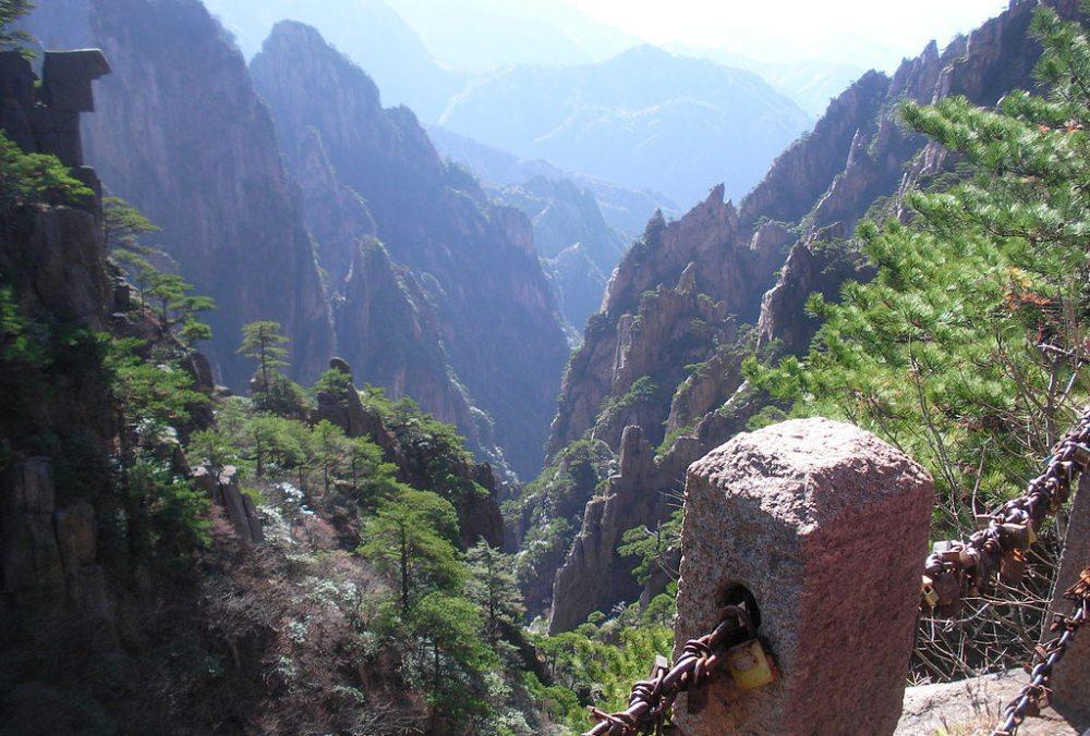 Aussichten im Huang Shan Gebirge (Bild: Boule02de, Wikimedia, CC)