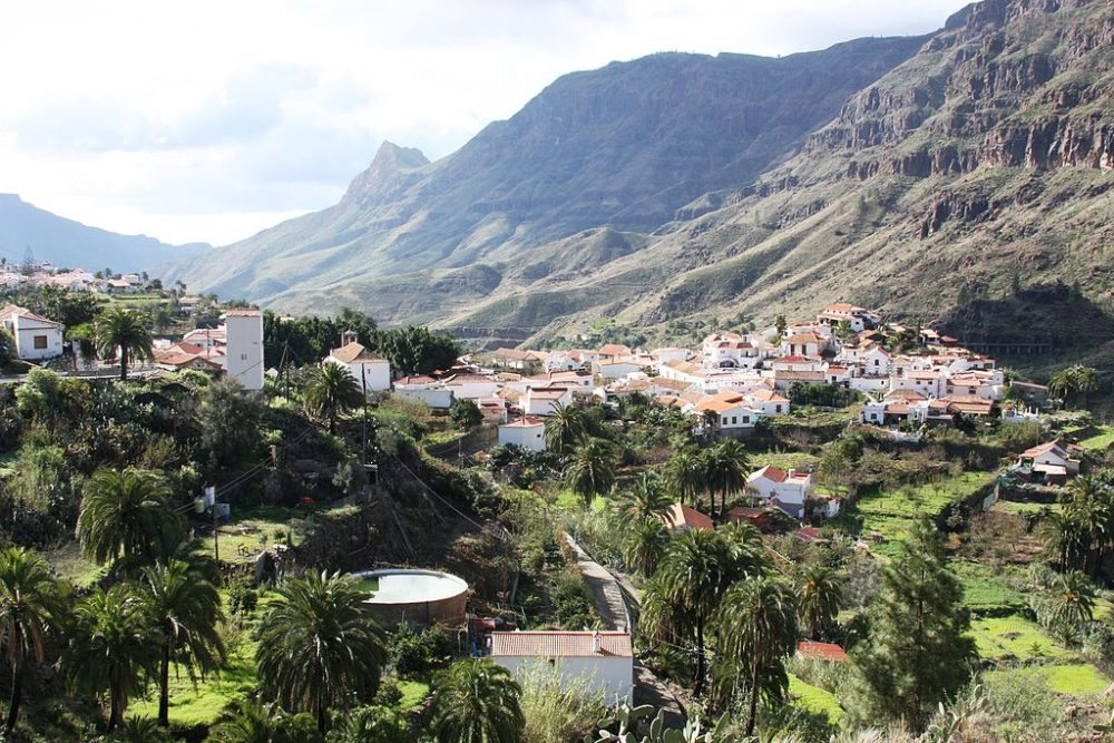 Dorf Fataga, Gran Canaria (Bild: Bjoertvedt, Wikimedia, CC)