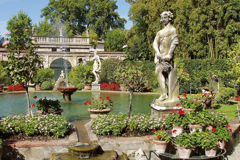 Gartenanlage vom Palazzo Pfanner in Lucca (Bild: Daderot, Wikimedia, CC)