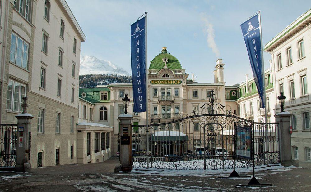 Grand Hotel Kronenhof  in Pontresina (Bild: Schulerst, Wikimedia, CC)