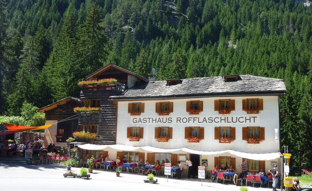 Historisches Gasthaus Rofflaschlucht (Bild: Adrian Michael, Wikimedia, CC)