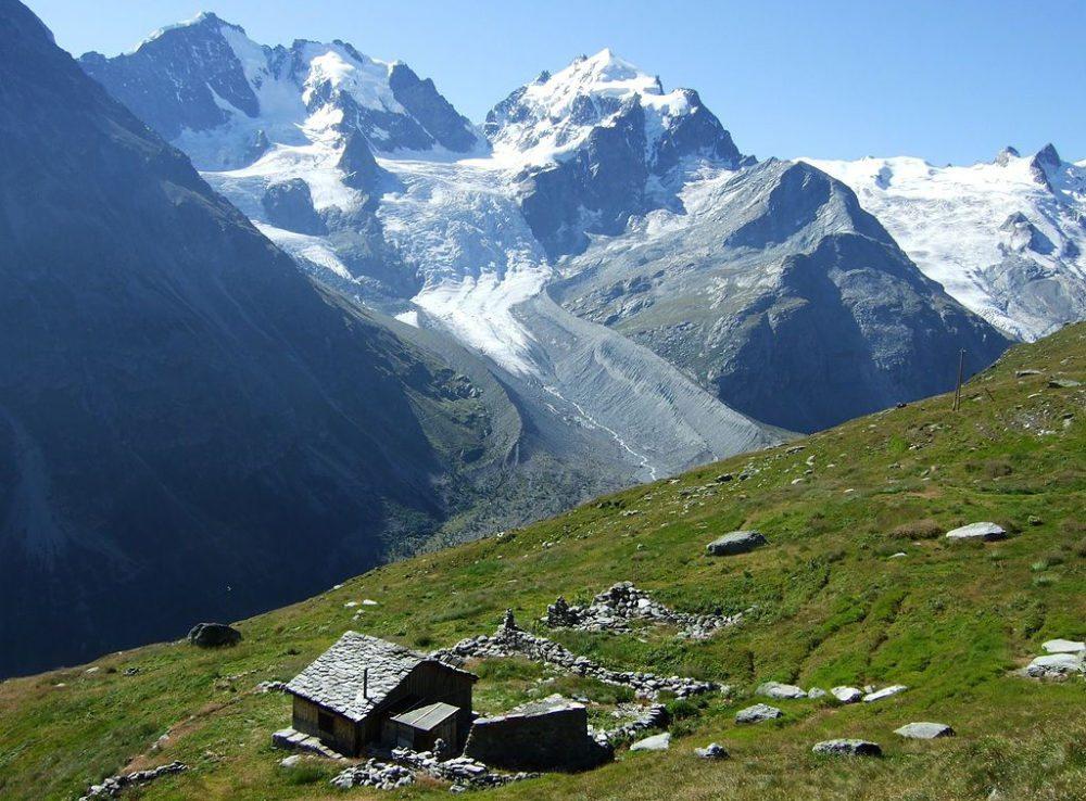 Blick auf den Tschiervagletscher beim Aufstieg zur Fuorcla Surlej, Graubünden (Bild: Marco Zanoli, Wikimedia, CC)