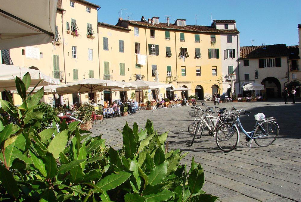 Piazza dell'Anfiteatro in Lucca (Bild: Andi Ma  / pixelio.de)