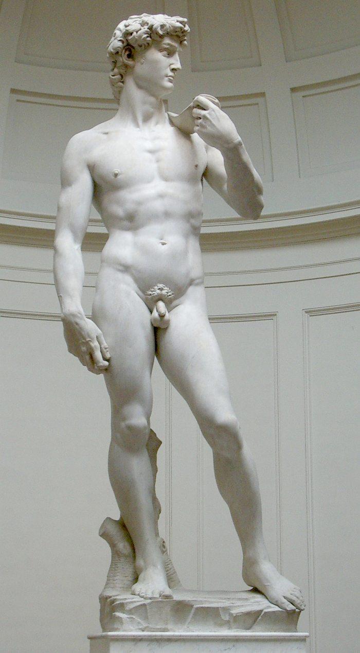 Originalskulptur von David in der Galleria dell' Accademia von Florenz (Bild: Rico Heil, Wikimedia, CC)