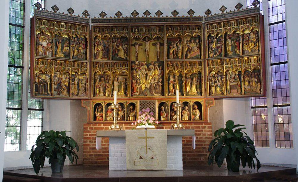 Flügelaltar der St.-Nikolaikirche in Kiel (Bild: Clemensfranz, Wikimedia, CC)