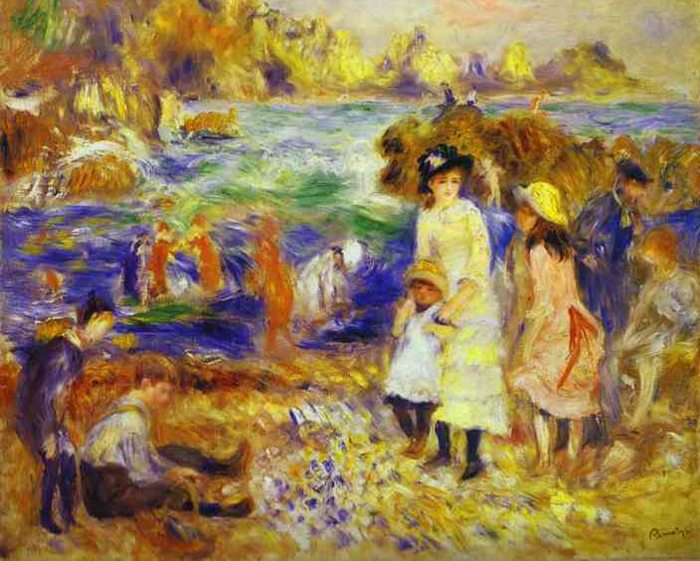 """Pierre-August Renoir """"Kinder auf dem Strand von Guernsey"""" (Bild: Pierre-Auguste Renoir, Barnes Foundation, Merion, USA, Wikimedia)"""