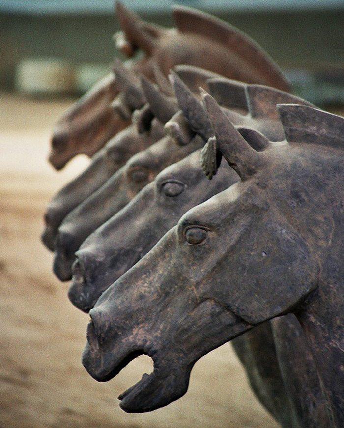 Pferdegespann der Terrakotta-Armee von Xi'an (Bild: Ian and Wendy Sewell, Wikimedia, CC)