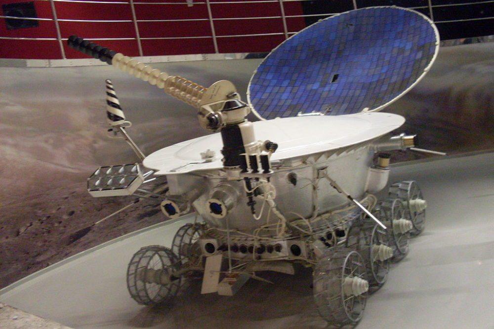 Lunochod-1-Model im Moskauer Kosmonauten-Museum (Bild: Armael, Wikimedia, CC)