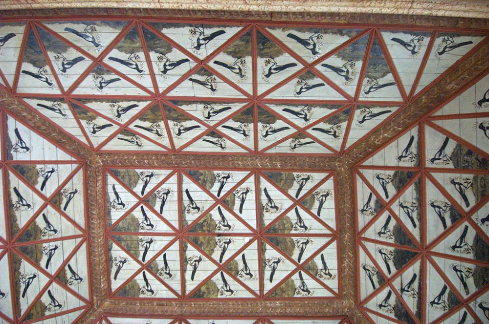 Decke von la Sala das Pegas im Palacio Nacional de Sintra  (Bild: syvwlch, WIkimedia, CC)