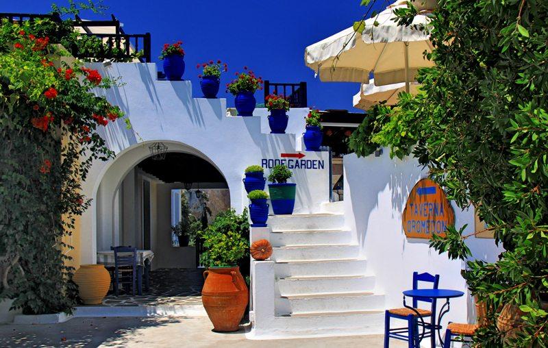 Taverne auf der Insel Kos (Bild: detlef menzel  / pixelio.de)