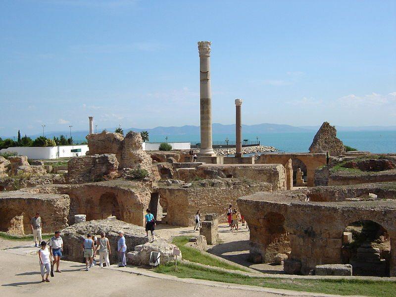 Antoninische Bäder von Karthago (Bild: BishkekRocks / Wikimedia / public domain)