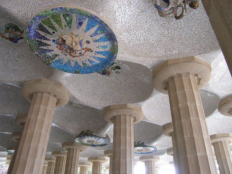 Mosaik-Kunst im Pavillon (Bild: Bautsch / Wikimedia / public domain)