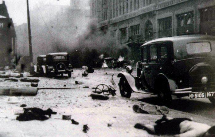 Schlacht um Shanghai 1937 (Bild: unbekannter Fotograf, Wikimedia)