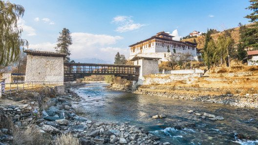 Traditionelle Bhutan Brücke (Bild: © ultramansk - shutterstock.com)