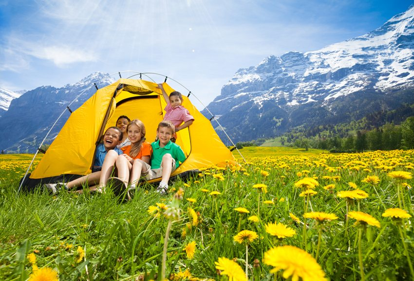 Campen in der Schweiz (Bild: Sergey Novikov / Shutterstock.com)