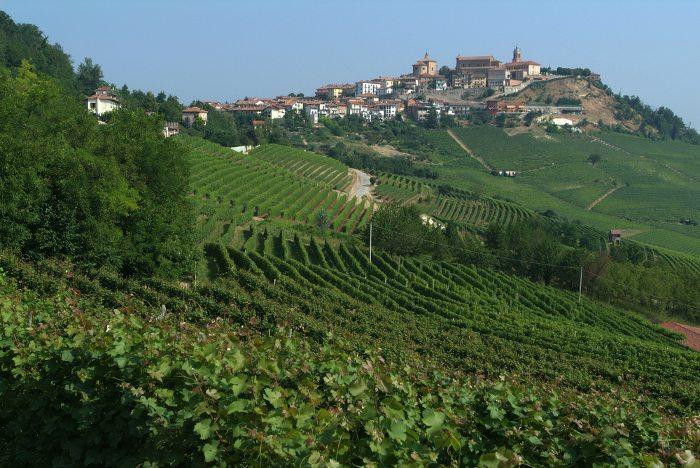 La Morra, eine der bedeutendsten Weinbaugemeinden von Piemont.