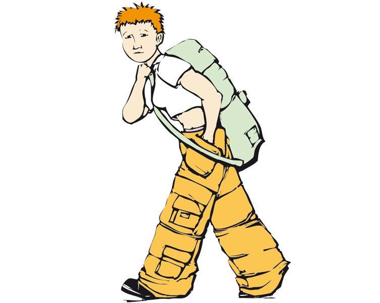 In den sackartigen Kleidungsstücken sind bis zu 15 Kilogramm Gepäck zu verstauen. (Bild: Jef Thompson / Shutterstock.com)