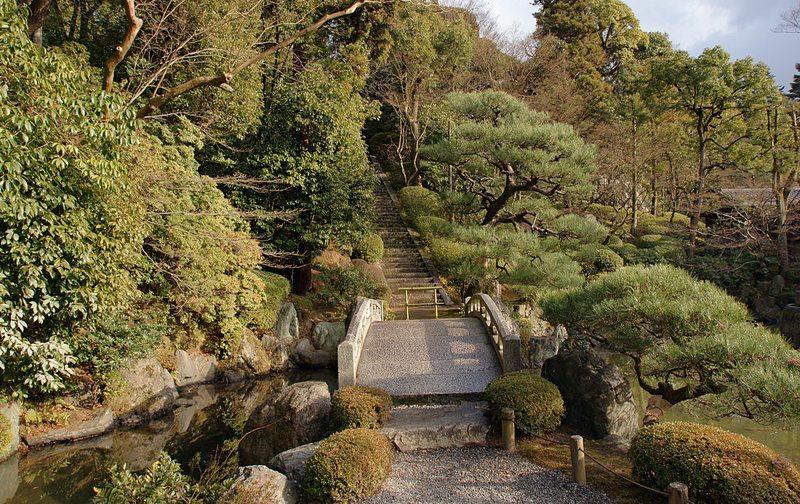 Garten Yuzen-en, Kyoto (Bild: 663highland, Wikimedia, CC)