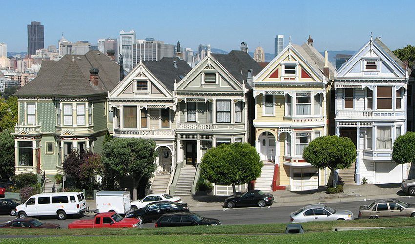 Painted Ladies, Alamo Square, San Francisco (Bild: Bernard Gagnon, Wikimedia, CC) USA Reise