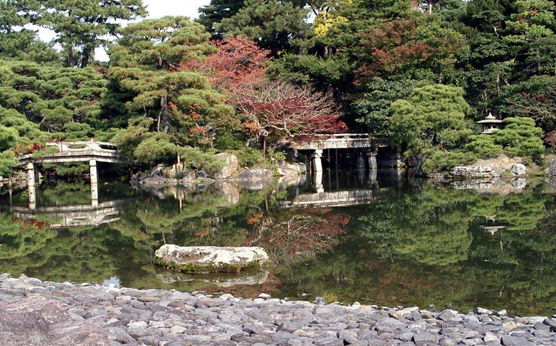 Der Park um den Kaiserpalast Kyoto Gosho (Bild: moja, Wikimedia, CC)