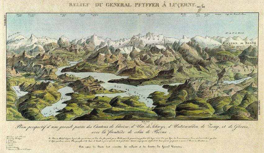 Der Vierwaldstättersee auf alten Ansichten 1780—1880 (Bild: Chriſtian von Mechel/Franz Ludwig Pfyffer von Wyher, Wikimedia)