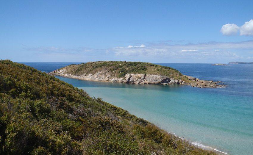 Muttonbird Island (Bild: Hughesdarren, Wikimedia, CC)