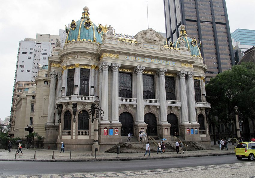 Teatro Municipal – das Stadttheater Rio de Janeiros (Bild. Haakon S. Krohn, Wikimedia, CC)
