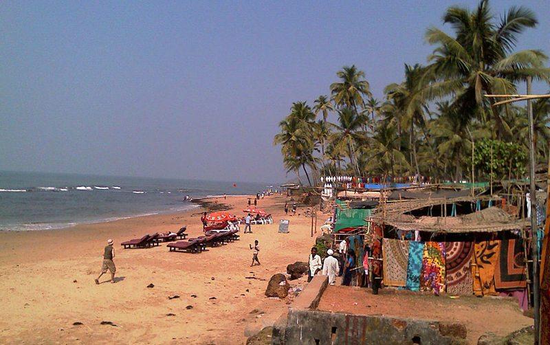 Strand von Anjuna in Goa (Bild: Ssr, Wikimedia, CC)