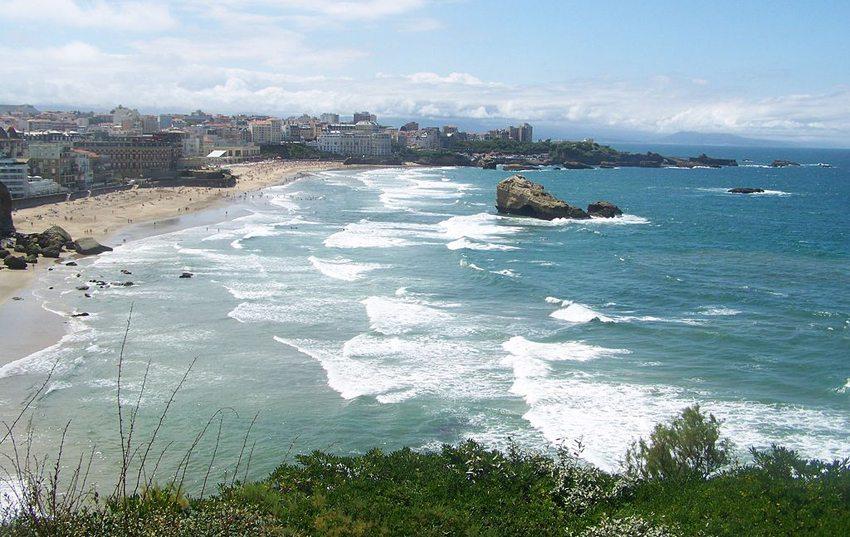 Atlantikküste vor Biarritz ( Bild: Florian Pépellin, Wikimedia, CC)