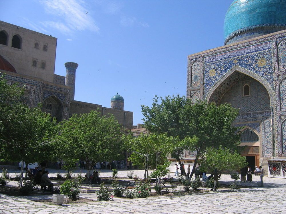 Zeugnisse islamischer Baukunst am Registan (© Gilad Rom / Wikimedia / CC) Smarkand